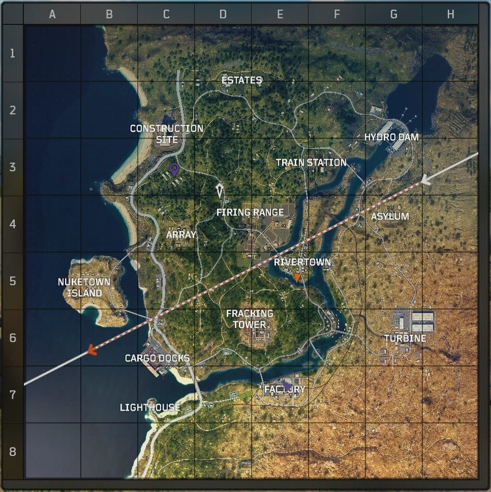 The full map in Blackout mode.