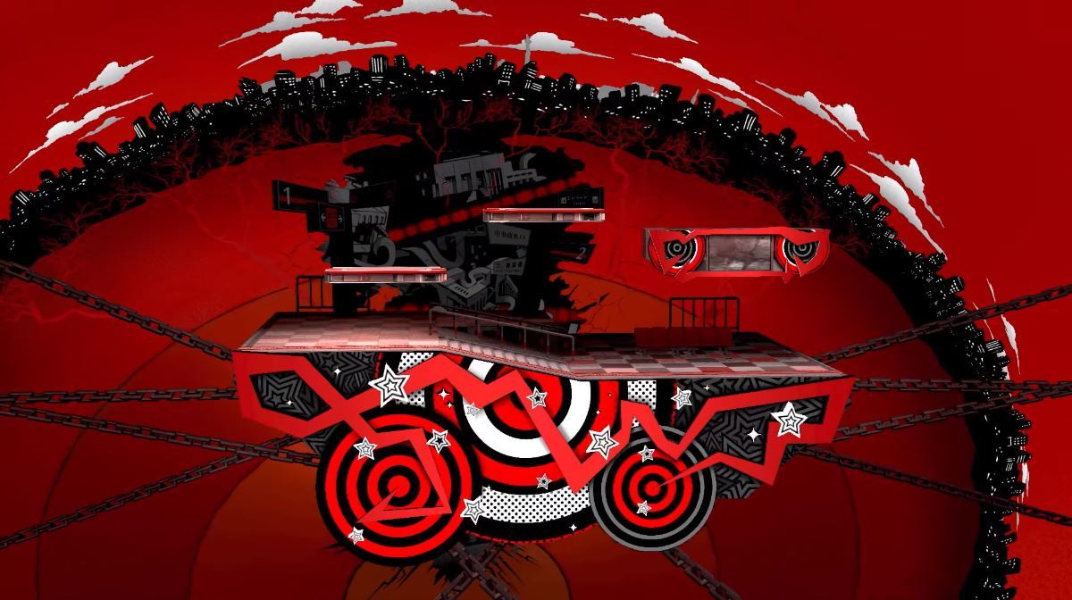 The normal Persona 5-themed Mementos stage.