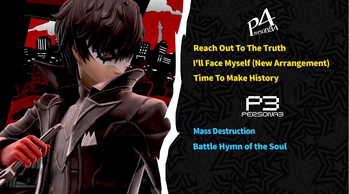 The songs featured in Smash Ultimate from Persona 3 and Persona 4.
