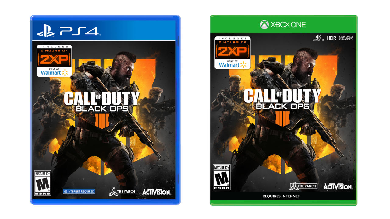 Call of Duty: Black Ops 4 - available for $25 (Walmart exclusive: includes 2 hours of 2XP)